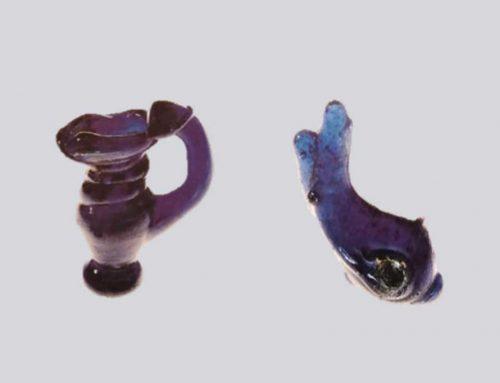 Pendenti miniaturistici in pasta vitrea